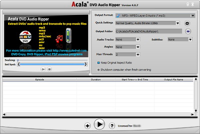 Acala DVD Audio Ripper 4.0.8